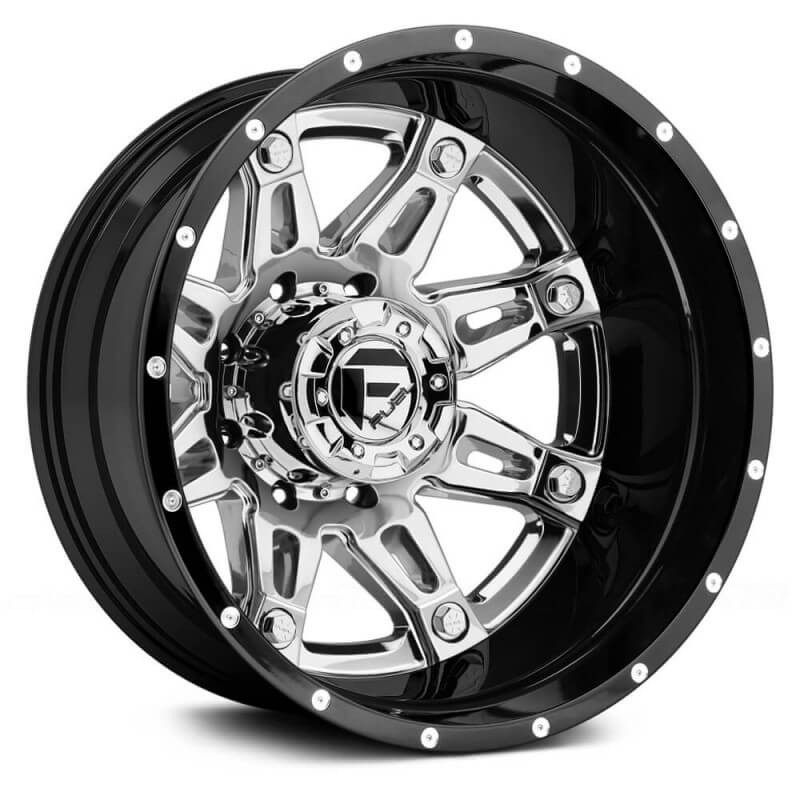 Fuel Dually Wheels >> Fuel Dually Hostage Ii D233 Rear Chrome With Black Lip 24x8 25 236 8x210