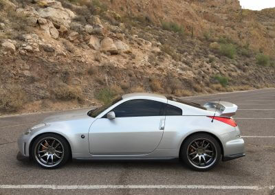 Extreme Wheels side view Nissan 350z Aodhan DS02