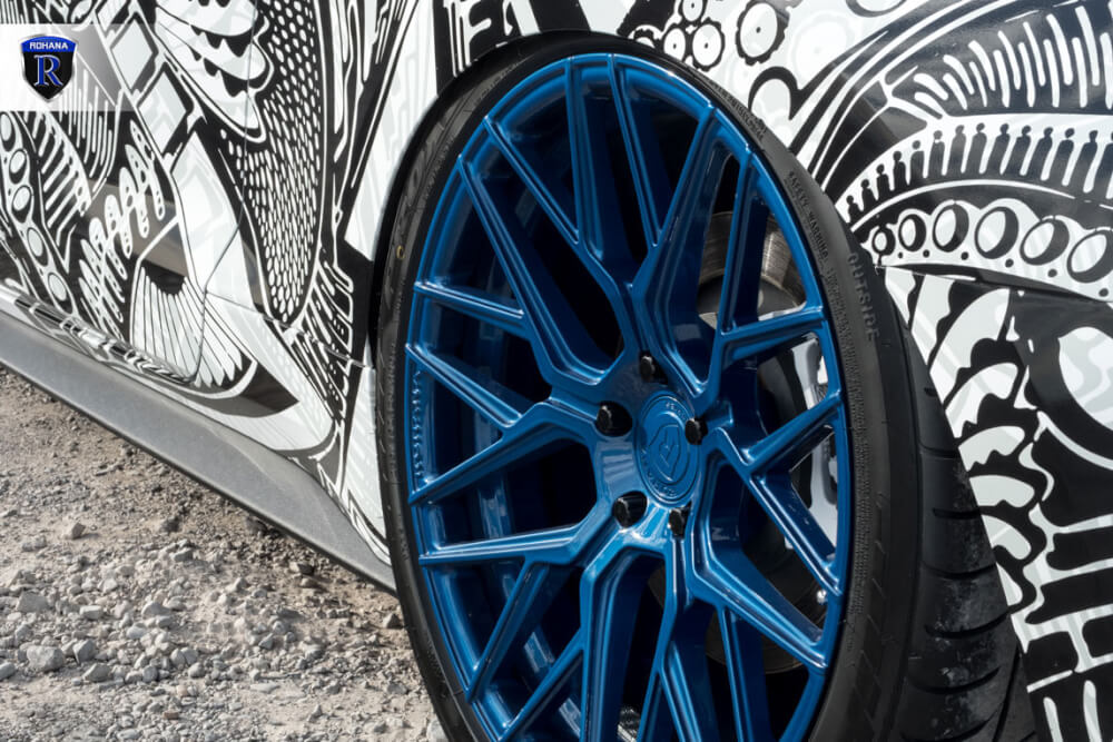 Extreme Wheels Mustang Rohana RFX10 Blue 10