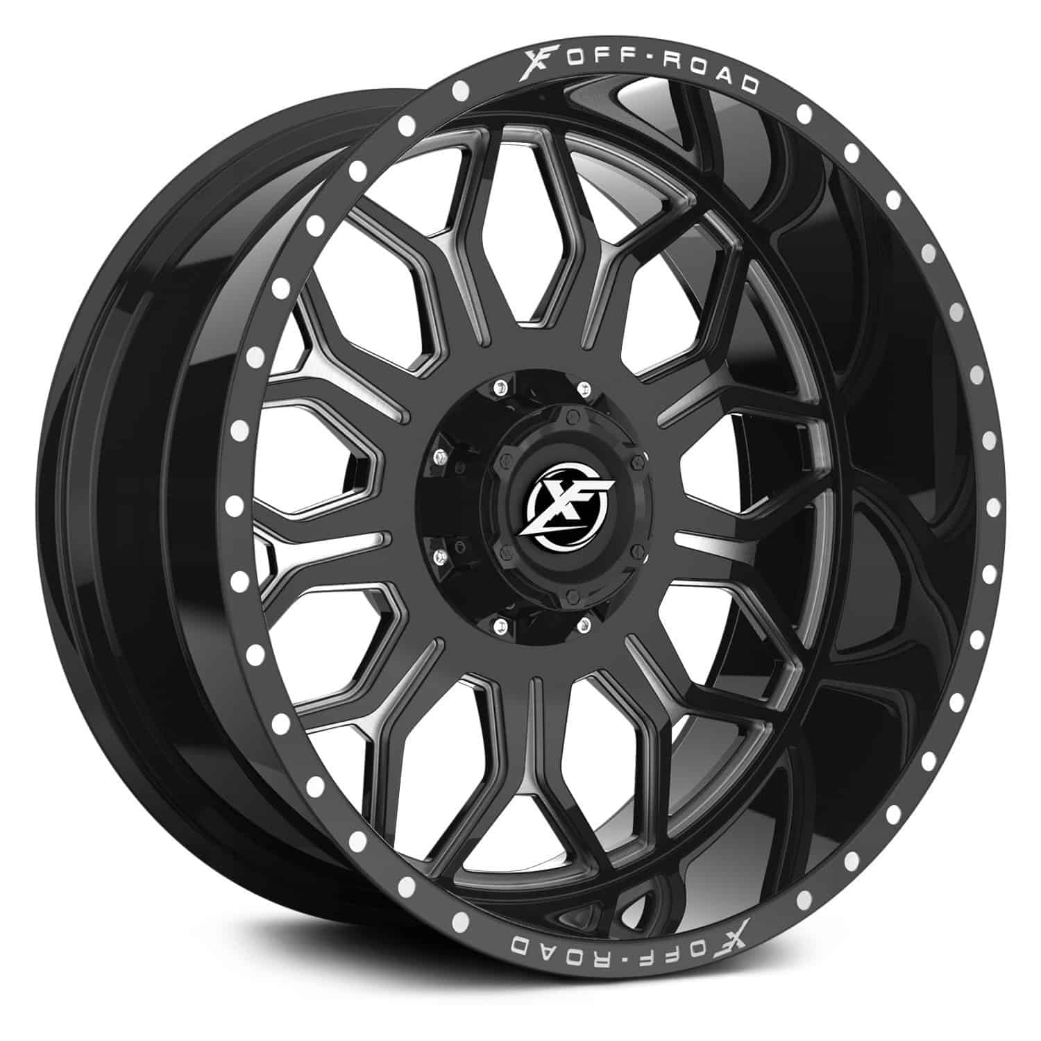 Xf Offroad Xf 227 Gloss Black And Milled Lowest Prices Extreme Wheels